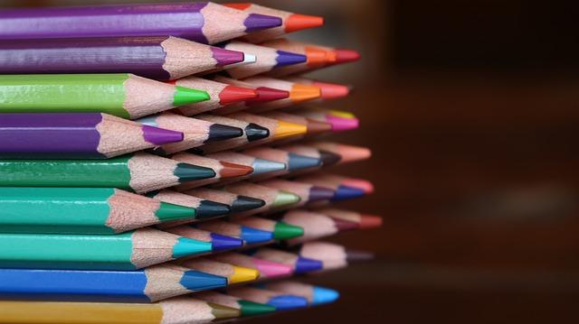 色鉛筆にフォーカス