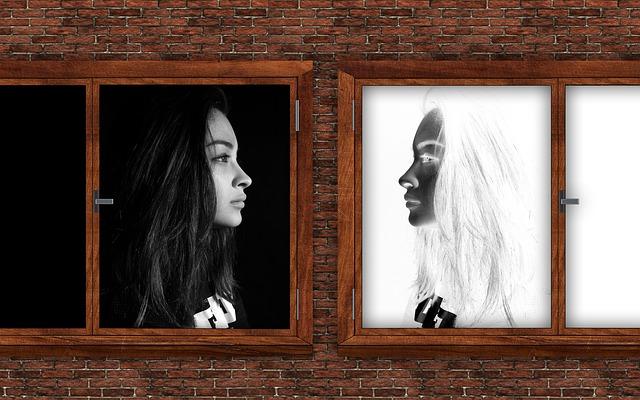 白と黒の比較